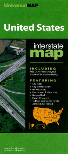 United States Interstate Road and Tourist Map.