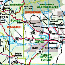 """Utah """"Flipmap"""" Road and Tourist Map, America."""