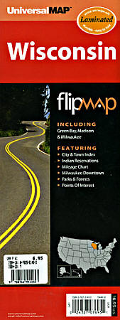 "Wisconsin ""Flipmap"" Road and Tourist Map, America."