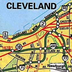 Ohio Road and Tourist Atlas, America.