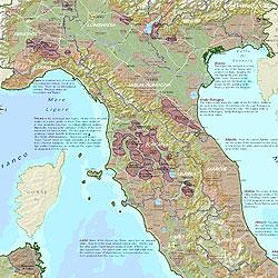 Italy Wine Regions WALL Map.