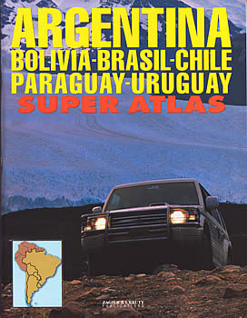 Argentina, All of Brazil, Chile, Paraguay, and Uruguay, Tourist Road ATLAS.