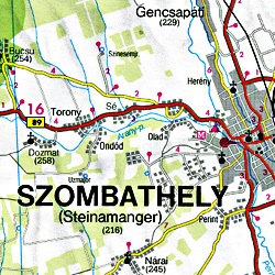 Steiermark Regional Road and Shaded Relief Tourist Map #4.