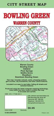 Bowling Green City Street Map, Kentucky, America.