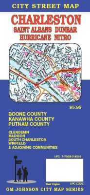 Charleston City Street Map, West Virginia, America.