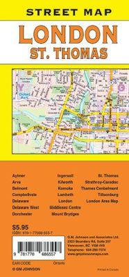 London ST.Thomas City Street Map, England, United Kingdom.