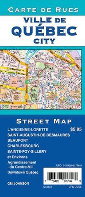 Quebec City Street Map, Canada.