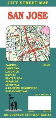 San Jose, City street map, California, America.