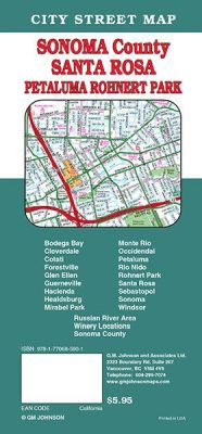 Santa Rosa, City street map, California, America.