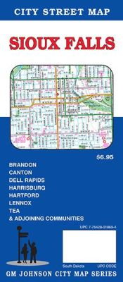 Sioux Falls City Street Map, South Dakota, America.