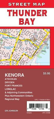 Thunder Bay, Kenora, Fort Frances and Dryden City Street Map, Ontario, Canada.