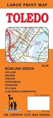 Toledo City Street Map, Ohio, America.