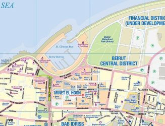 Lebanon and Beirut Road and Physical Travel Reference Map. 4th Edition