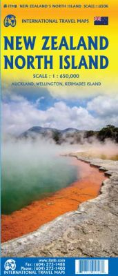 New Zealand North Island 1st Edition, Road and Physical Travel Reference Map.