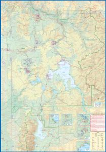 Yellowstone National Park and Wyoming Travel Reference Map America.
