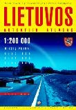 Lithuania Tourist Road Atlas.  Scale 1:200,000.