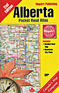 Alberta Pocket Tourist Road ATLAS, Canada.