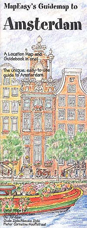 AMSTERDAM Illustrated Pictorial Guide Map, Netherlands.