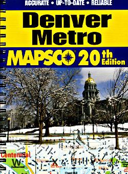 DENVER Metro Street ATLAS, Colorado, America.
