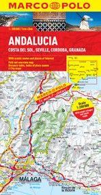 Andalusia, Costa del Sol, Seville, Cordoba and Granada  Road and Tourist Map. Marco Polo edition.