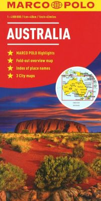 Australia Road and Tourist Map. Marco Polo edition.