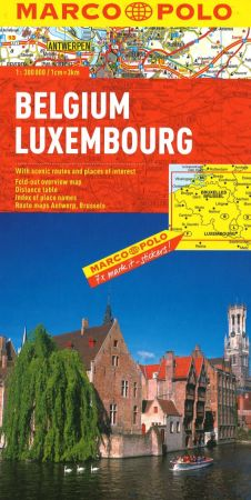 Belgium and Luxembourg Road and Tourist Map. Marco Polo edition.