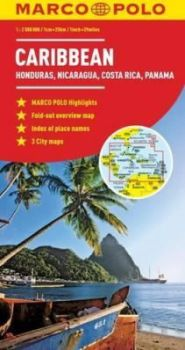 Caribbean Road and Tourist Map. Marco Polo edition.