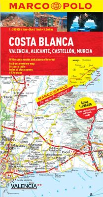 Costa Blanca Road and Tourist Map. Marco Polo edition.