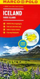 Iceland and Faroe Island Road and Tourist Map. Marco Polo edition.