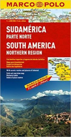South America, Northern, Road and Tourist Map. Marco Polo edition.