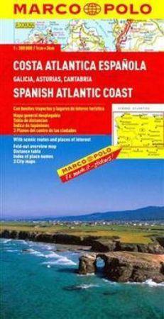 Spanish Atlantic Coast Map. Marco Polo edition.