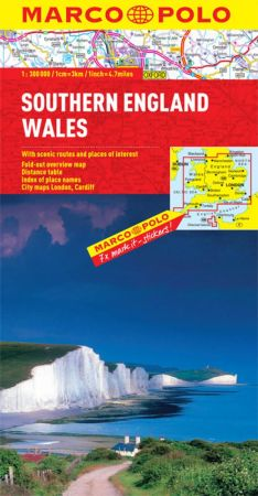 Wales and Southern England Road and Tourist Map. Marco Polo edition.