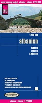 Albania Road and Topographic Tourist Map.