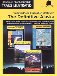 """Alaska """"The Definitive"""" National Park, Road and Recreation Map with CD-ROM, America."""