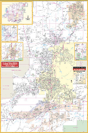 Anniston WALL Map, Alabama, America.