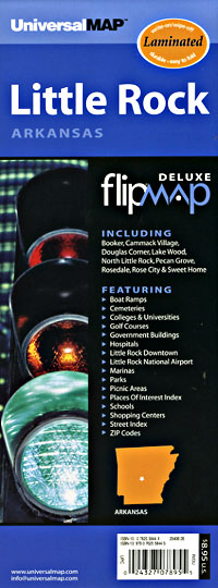 "Little Rock ""Flipmap"" Arkansas, America."