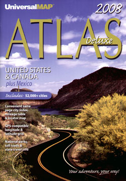 "United States, Canada and Mexico ""North America"" Road and Tourist ATLAS."